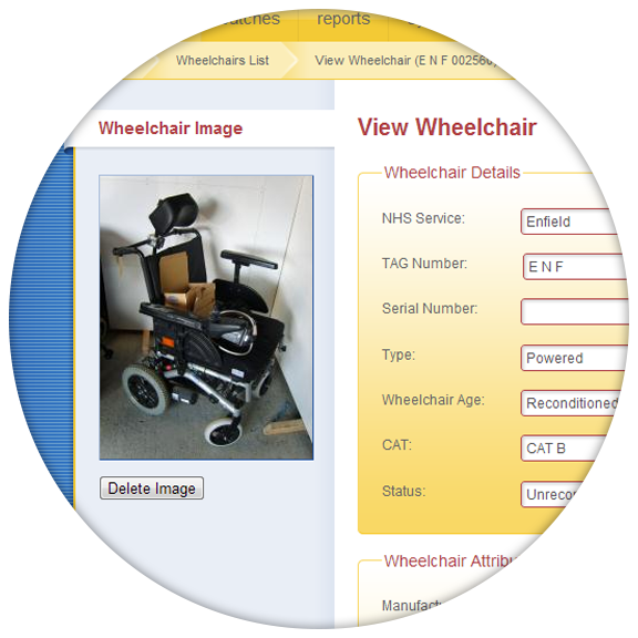 Fast web-based access to live wheelchair stock